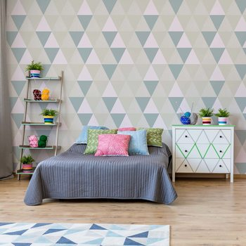 Modern Geometric Triangle Pattern Fototapet