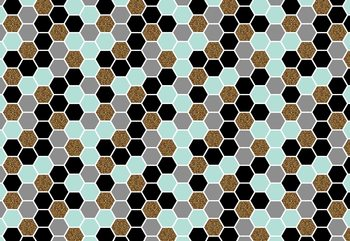 Modern Hexagonal Pattern Fototapet