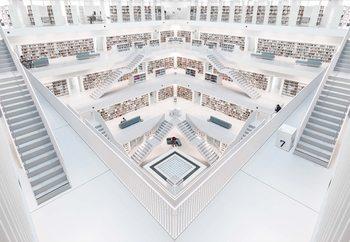Modern Library Fototapet