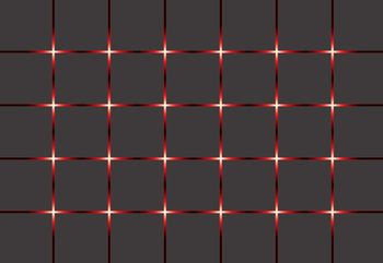 Modern Square Design Red Lights Fototapet