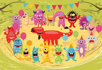 Monsters Party Fototapet