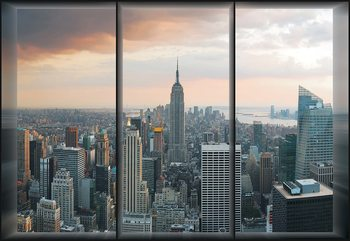 New York Skyline Window View Fototapet
