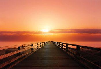 Ocean Pier Sunset Fototapet