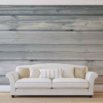 Pattern White Wood Fototapet