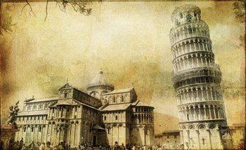 Pisa Leaning Tower Fototapet