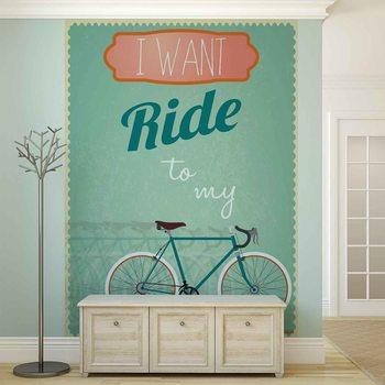 Racing Bicycle Retro Fototapet