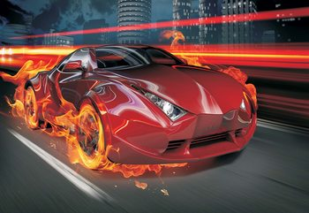 Red Car Fototapet