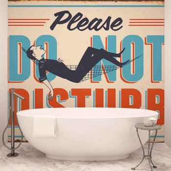 Retro Poster Do Not Disturb Fototapet