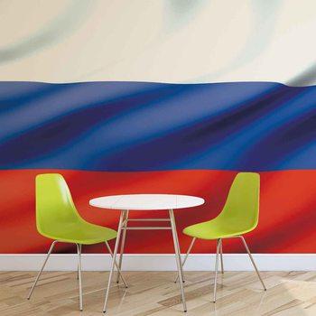 Ruská vlajka Fototapet