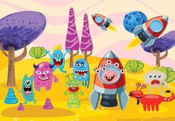 Space Monsters Fototapet