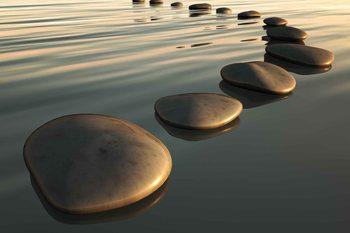 Stones Ripples Zen Fototapet