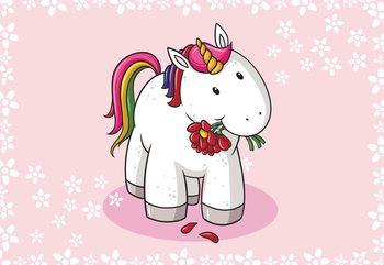 Sweet Unicorn Pink Fototapet