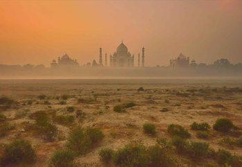 Taj Mahal At Dusk Fototapet