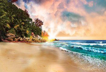 Tropical Beach Sunset Fototapet