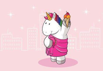 Unicorn Pink Fototapet