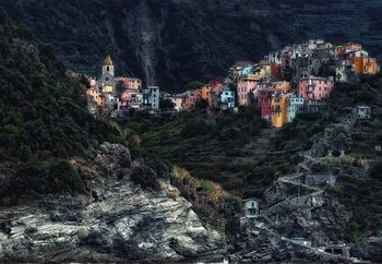 Village On The Rocks Fototapet
