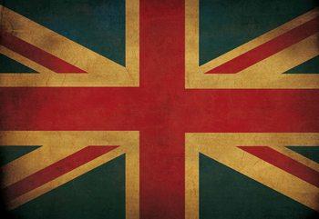 Vintage Flag Uk Union Jack Fototapet