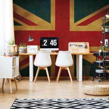 Vintage Flag Uk Union Jack Fototapet