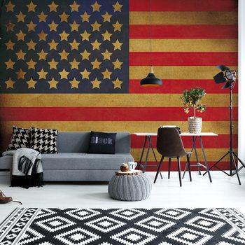 Vintage Flag Usa America Fototapet