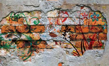 Wall Graffiti Street Art Fototapet