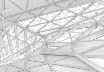 White Web Fototapet