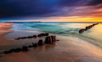 Widok na plażę Fototapet