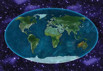 World Map Atlas Fototapet
