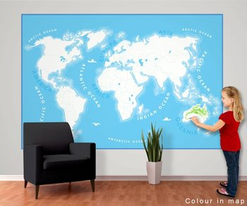 World Map for Kids Fototapet