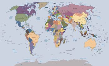 World Map Fototapet