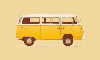Yellow Van Fototapet