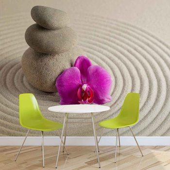 Zen Garden Flower Fototapet