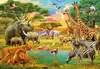 Afrika állatvilága Fali tapéta