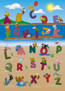ANIMAL ALPHABET Fali tapéta