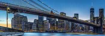 Blue Hour over New York Fali tapéta