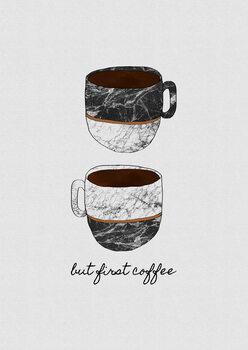 But First Coffee Tapéta, Fotótapéta