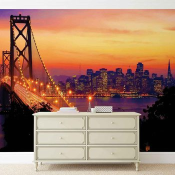City Skyline Golden Gate Bridge Tapéta, Fotótapéta
