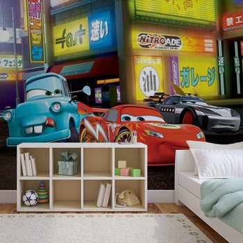Disney Cars Lightning McQueen Tapéta, Fotótapéta