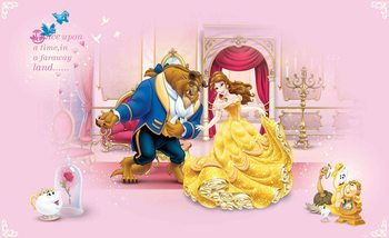 Disney Princesses Beauty Beast Fali tapéta