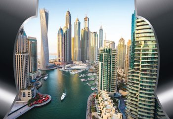 Dubai City Skyline Tapéta, Fotótapéta