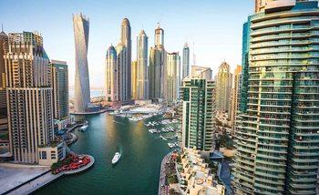 Dubai City Skyline Marina Tapéta, Fotótapéta