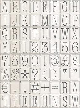 Letters Tapéta, Fotótapéta