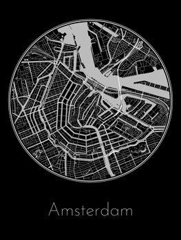 Map of Amsterdam Tapéta, Fotótapéta