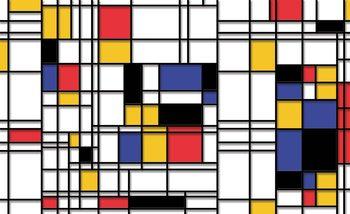 Mondrian Modern Art Tapéta, Fotótapéta