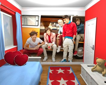 One Direction - Campervan Tapéta, Fotótapéta