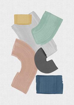 Pastel Paint Blocks Tapéta, Fotótapéta