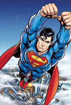 Superman Flying Fali tapéta