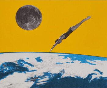 The space dive, 2016, Tapéta, Fotótapéta