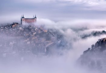 Toledo City Foggy Morning Tapéta, Fotótapéta