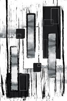 Abstract Painting No. 50 | silver Fototapeta