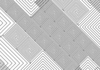 Abstract Pattern Black White Fototapeta